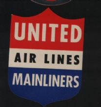 Airline label luggage United Air lines#385